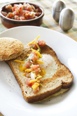 Power Breakfast! Puka Egg (Bird's Nest) Toast with Hawaii Salsa