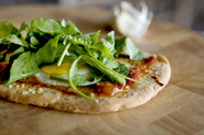 Breakfast Pizza with Arugula